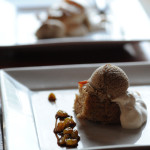 Spice cake with raisins, carmelized peaches and beer ice cream // Photo by Daniel Murphy