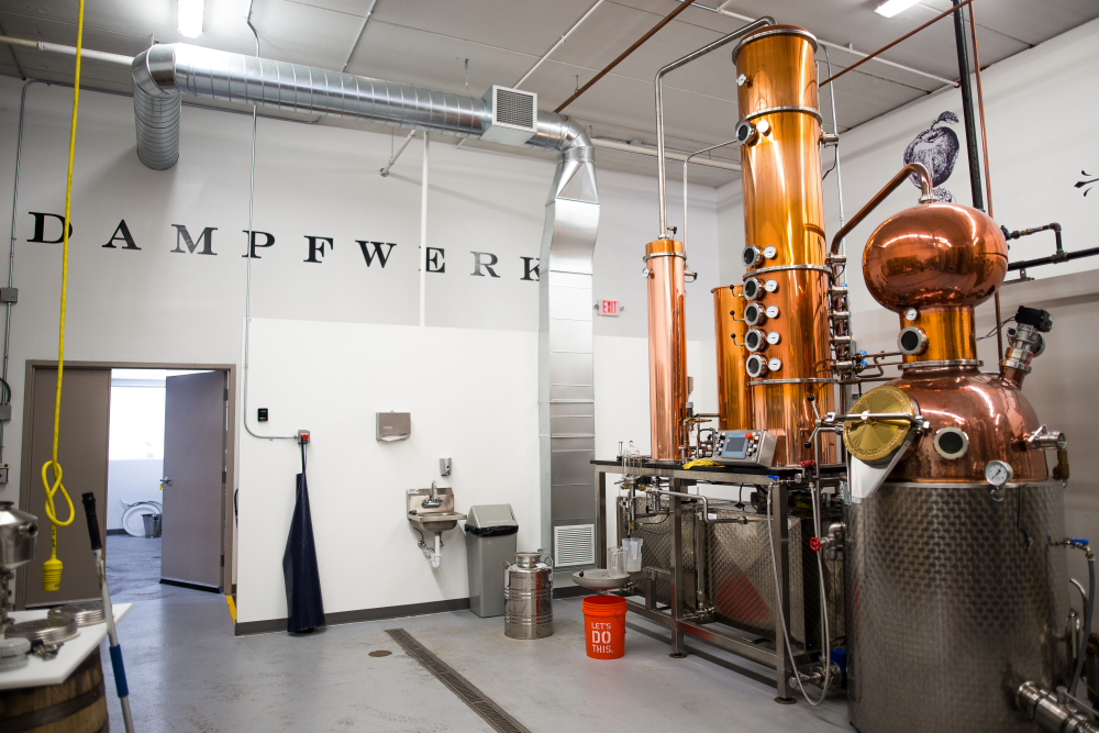 The still at The Dampfwerk Distillery in St. Louis Park, Minnesota // Photo by Aaron Davidson