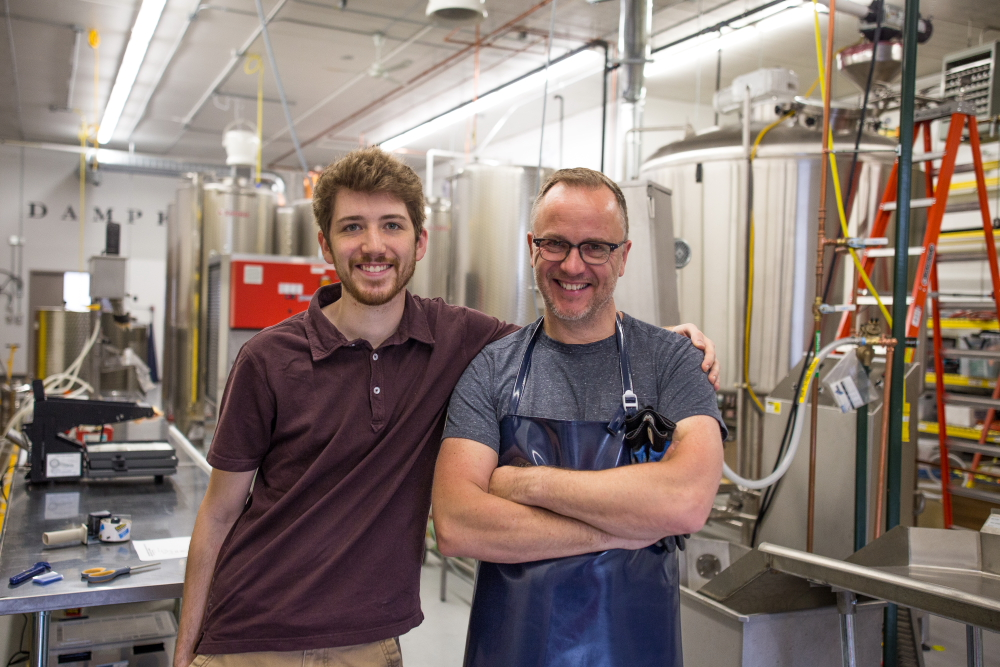 Christian and Ralf Loeffelholz of The Dampfwerk Distillery // Photo by Aaron Davidson