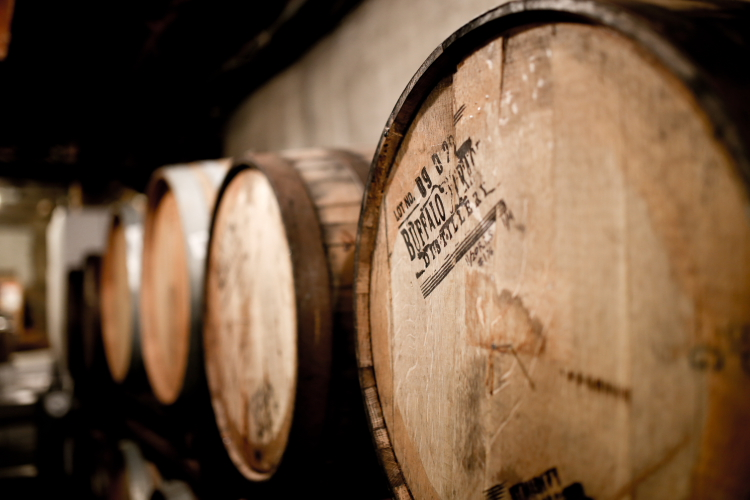 Beer aging in Buffalo Trace Barrels // Photo by Aaron Davidson