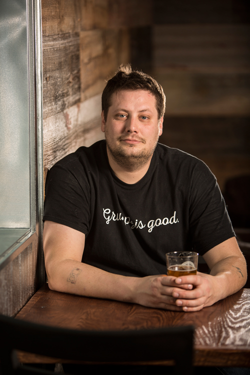 Disgruntled Brewing's Brett Doebbeling // Photo courtesy of Disgruntled Brewing