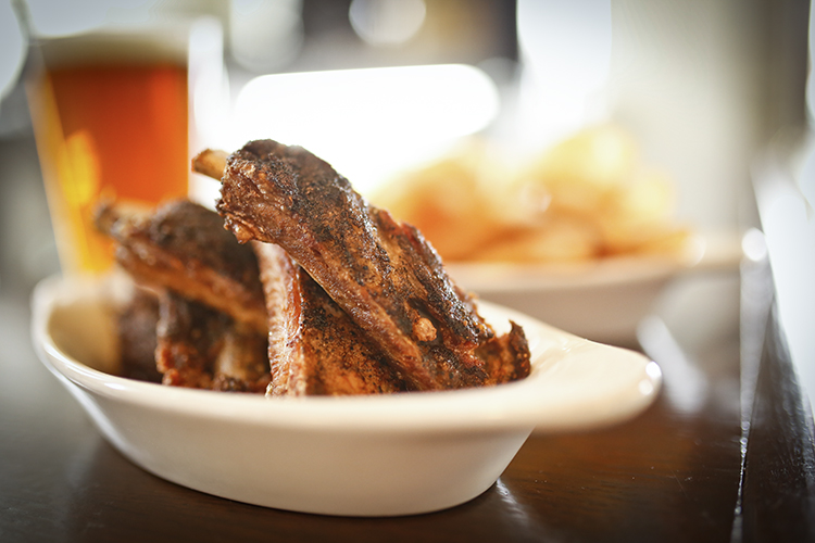 Salt and pepper ribs at The Draft Horse // Photo by Aaron Davidson, Growler Magazine