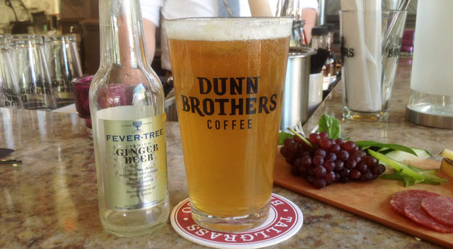 Hopped up shandy gaff at Dunn Bros