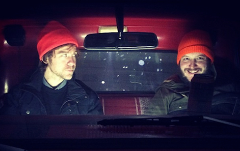 Aaron Dessner and Justin Vernon, organizers of Eaux Claires Music & Arts Festival