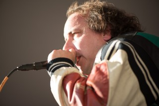 Sean Tillmann, better known as Har Mar Superstar, performing at Eaux Claires 2016 // Photo by Kevin Kramer