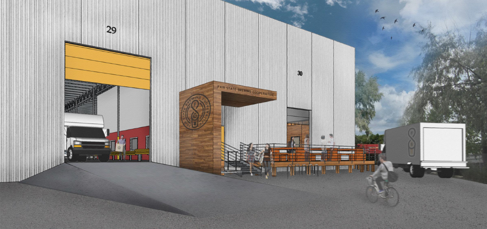 Rendering of new Fair State Brewing production facility at 2077 Ellis Avenue in St. Paul // Courtesy of Fair State Brewing Cooperative