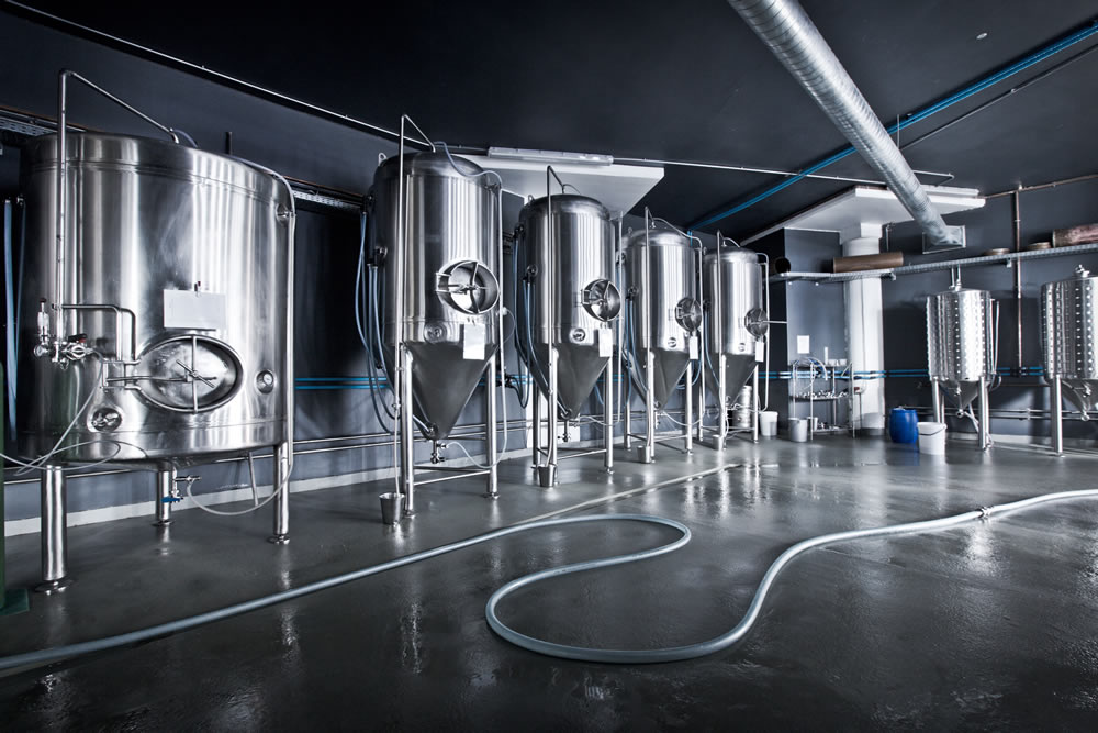 Fermenters at Devil's Peak Brewing Company // Photo courtesy of Devil's Peak Brewing Company