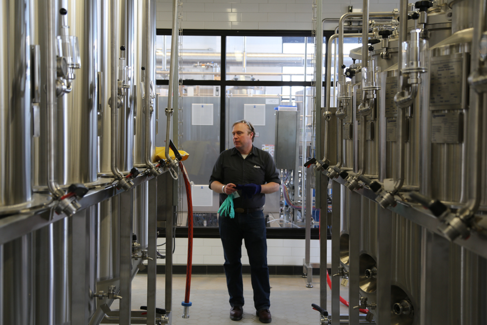 Mike Miziorko, the head brewer at Rahr Malting's pilot brewery // Photo courtesy of Rahr Malting Company