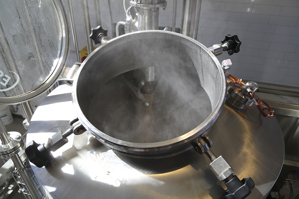 Brew day at Rahr Malting's pilot brewery // Photo courtesy of Rahr Malting Company