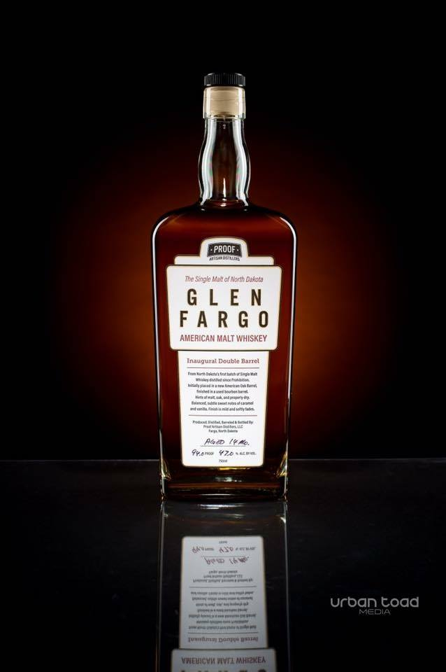 Proof Artisan Distillers Glen Fargo single malt whiskey // Photo courtesy of Proof Artisan Distillers