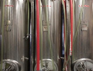 Fermenters at Grand Rounds Brewpub // Photo by Brian Kaufenberg