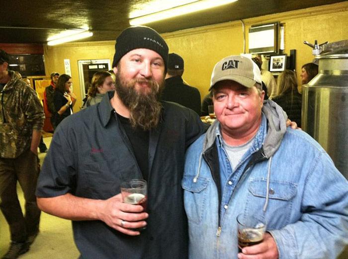 Dave Weinhold (left) of Wenonah Brewing Company // Photo by Lee Weinhold