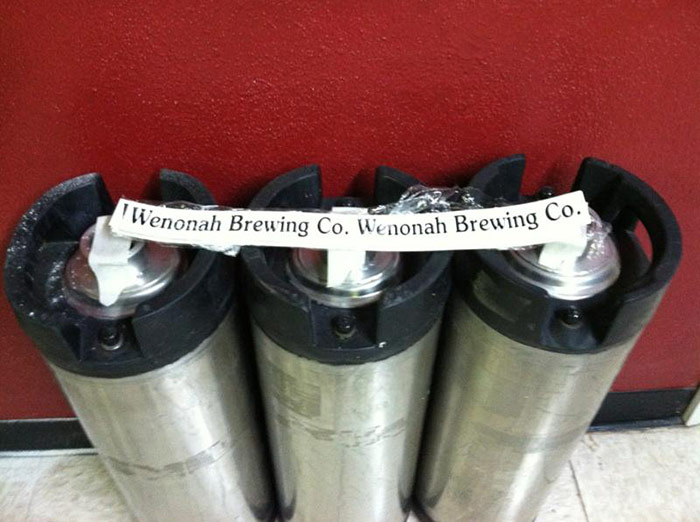 Kegs at Wenonah Brewing Company // Photo by Lee Weinhold