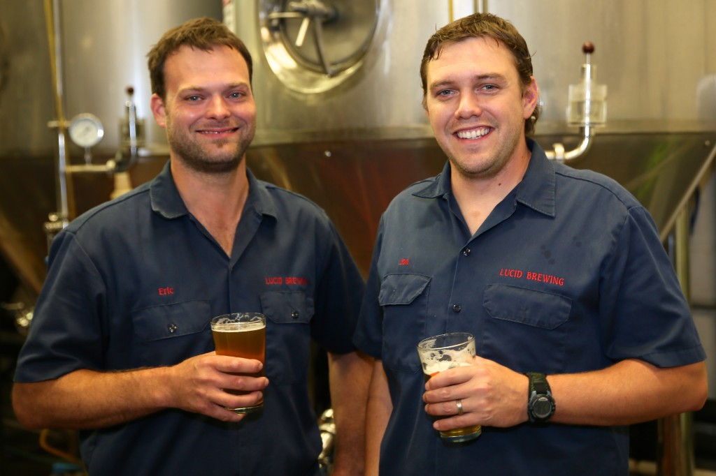 Eric Biermann and Jon Messier of LUCID Brewing