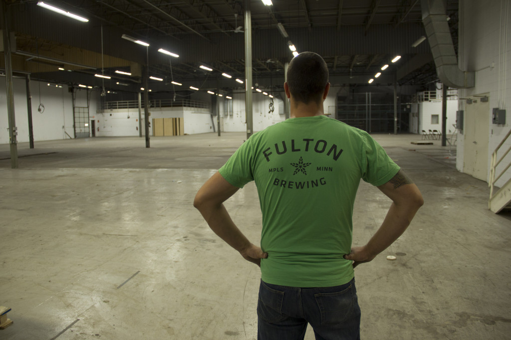 Fulton Brewing Co-Owner Brian Hoffman inside the new production brewing facility