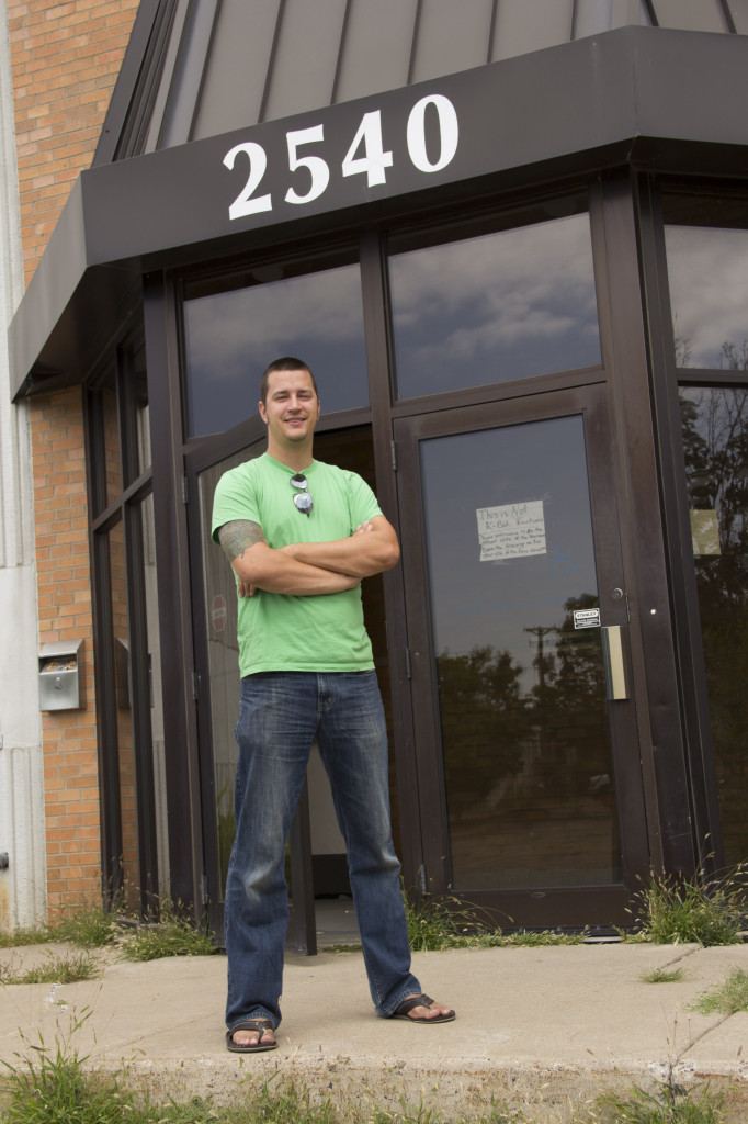 Fulton Brewing Co-Owner Brian Hoffman in front of the brewery's new production facility