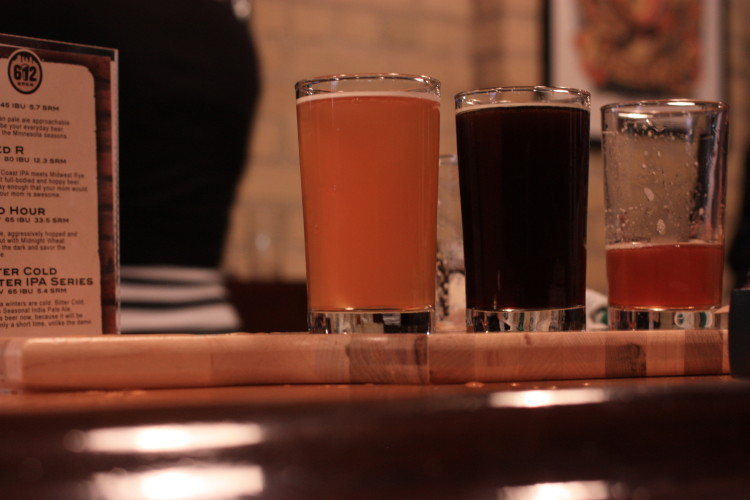 Flight at 612Brew // Photo by Brian Kaufenberg