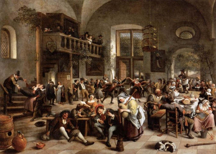 """Revelry at an Inn,"" by Dutch painter Jan Steen"