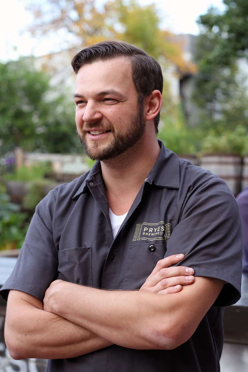 Jeremy Pryes of Pryes Brewing // Photo courtesy of Pryes Brewing