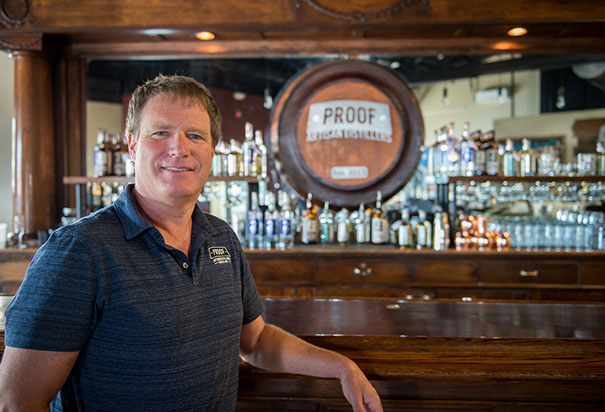 Joel Kath of Proof Artisan Distillers // Photo courtesy of Proof Artisan Distillers