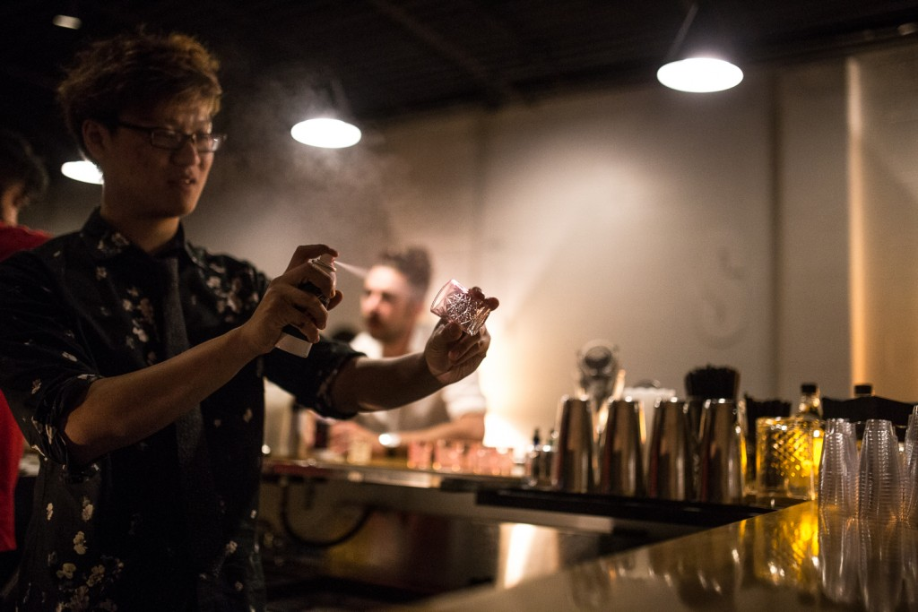 Lawless Head Bartender Dustin Nyguen, Photo by Aaron Davidson // Growler Magazine