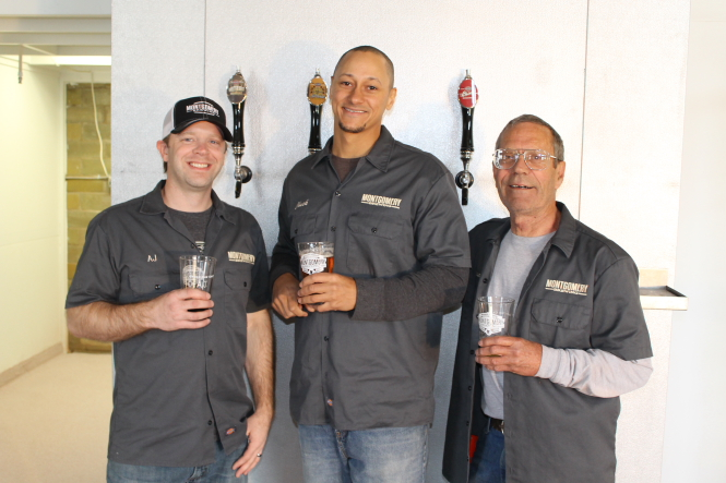 Left to right: AJ Newtown, Charlesy Dorsey, Steve Simon // Photo courtesy of Montgomery Brewing