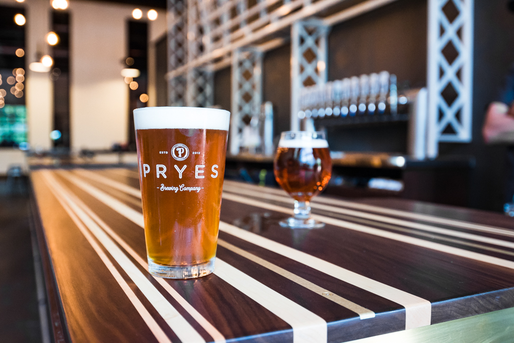 Pryes new session IPA and red IPA // Photo by Kevin Kramer