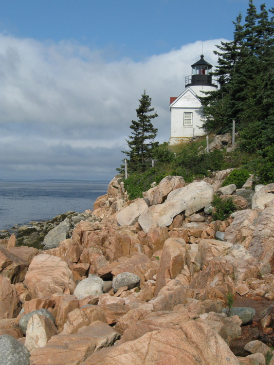 The Bass Harbor Head Lighthouse is fully operational at the south end of Mount Desert Island // Photo courtesy of NPS