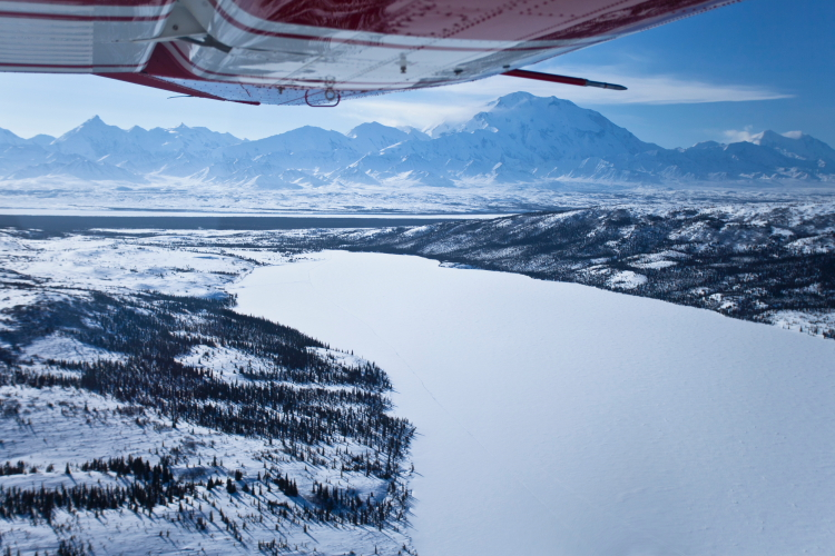 Denali and Wonder Lake from Air // Photo by Jacob W. Frank, NPS