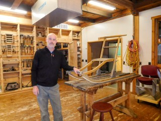 Randy Schnobrich in a classroom at North House Folk School // Photo by Tanya Starinets
