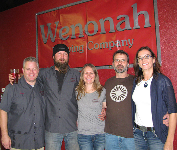 From Left to Right: Chris Gardner, Dave Weinhold, Megan Weinhold, Steve Barber, Wanda Barber // Photo by Lee Weinhold