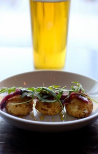Goat Cheese Fritters and Lagunitas Pils - Pat's Tap