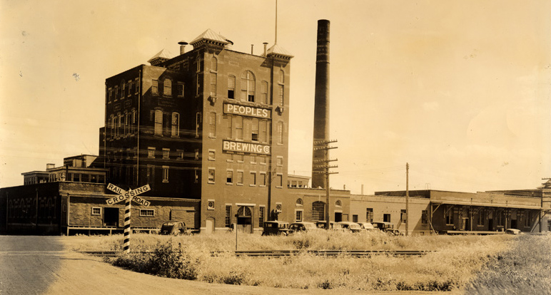 Peoples Brewing Company operated in Duluth from 1908–1957 (this photo was taken sometime between 1934–1937) // Image Detail, Archives and Special Collections, Kathryn A. Martin Library, University of Minnesota Duluth