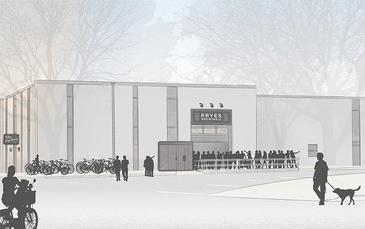 Pryes Brewing rendering // Courtesy of Little Box