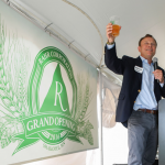 Rahr Corp. President and CEO William Rahr addresses the crowd with a toast // Photo courtesy of Rahr Malting