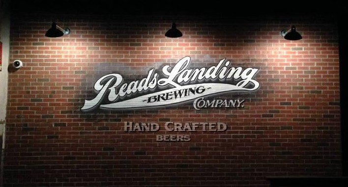 Read's Landing mural // Photo via Reads Landing Brewing Company