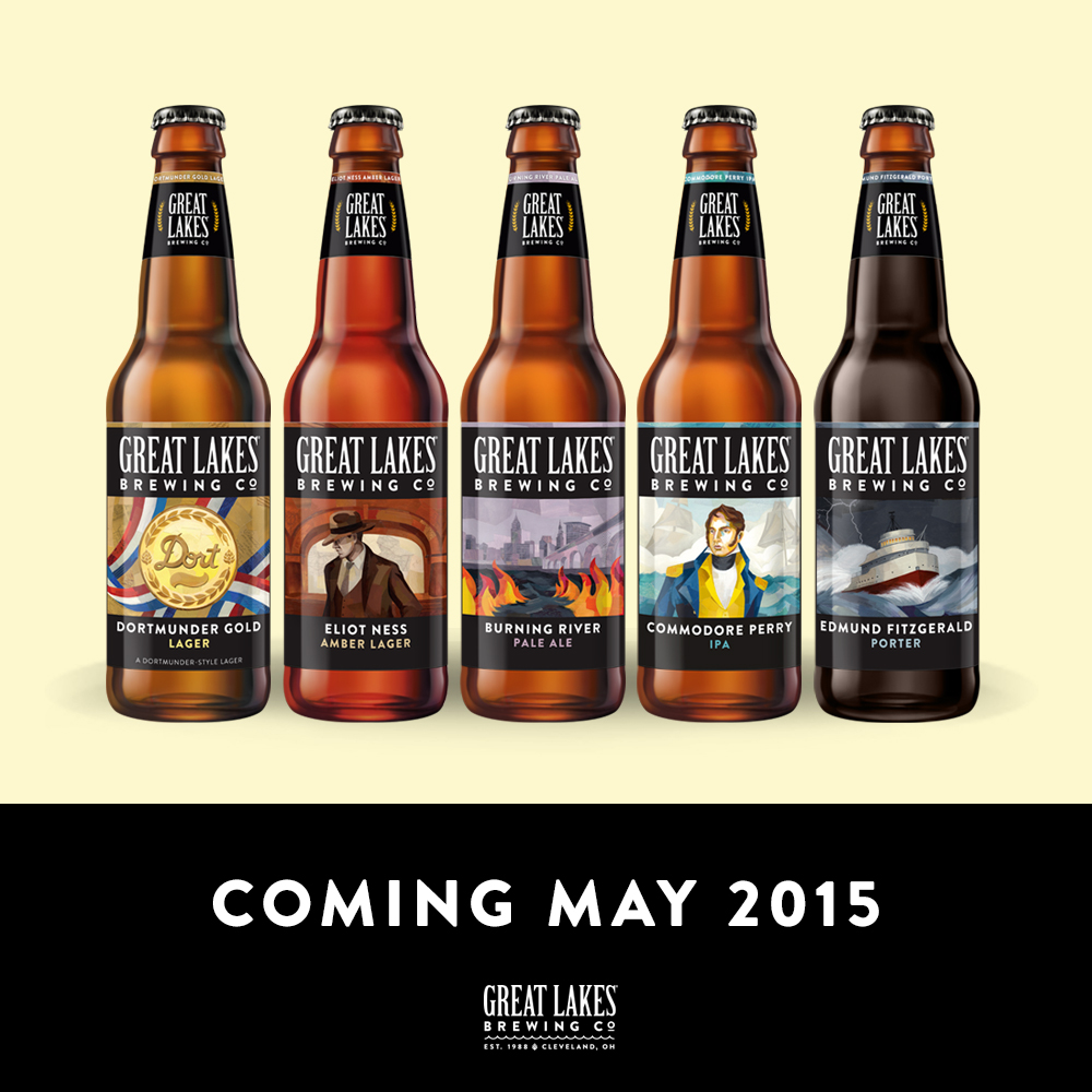 Great Lakes Brewing's new labels // Courtesy of Great Lakes Brewing