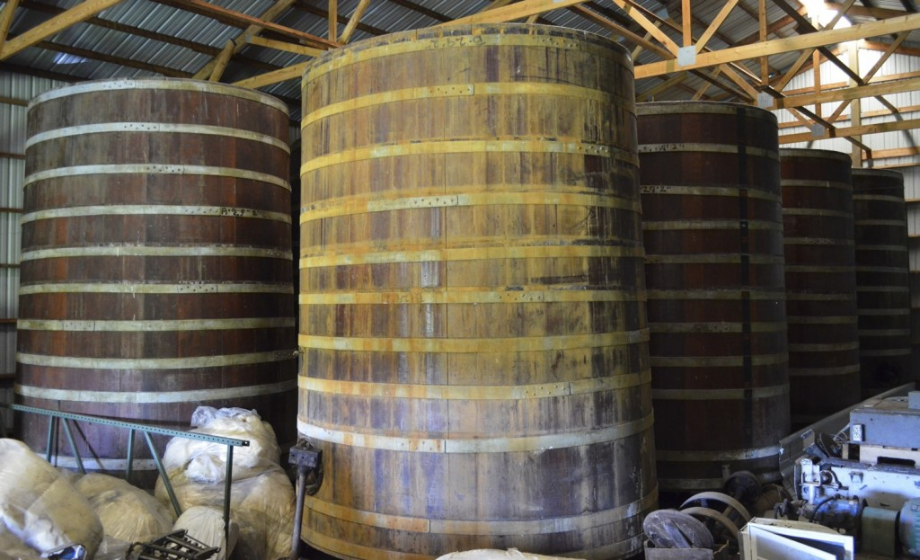 Cypress foudres // Photo Courtesy of August Schell Brewing Co.