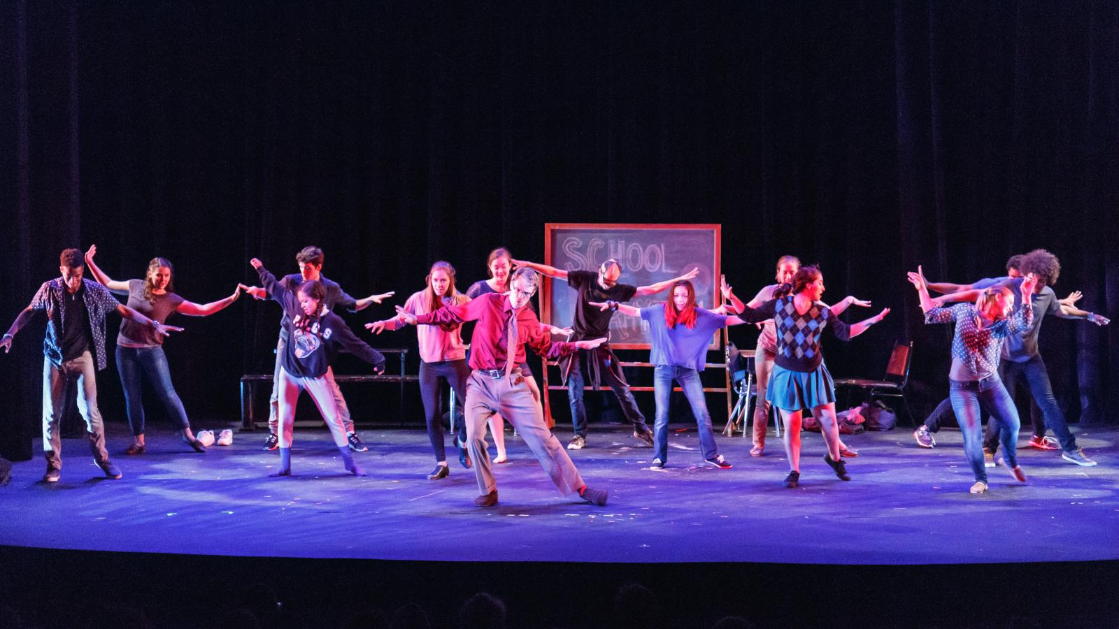 """School of Rhythm"" presented by Elephant Games Productions at Rarig Center Proscenium"