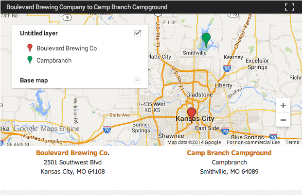 The Midwest Craft Beer Camping Road Trip - Missouri breweries map