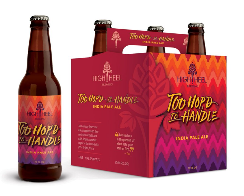Too Hop'd to Handle IPA is one of High Heel Brewing's two beers that are specifically geared toward women // Image via @highheelbeer