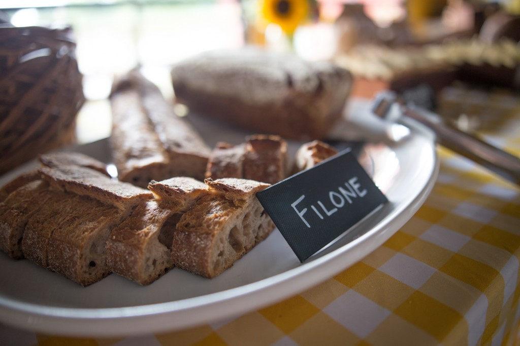 A rich, baguette-style loaf called Filone from Baker's Field, Photo by Aaron Davidson // Growler Magazine