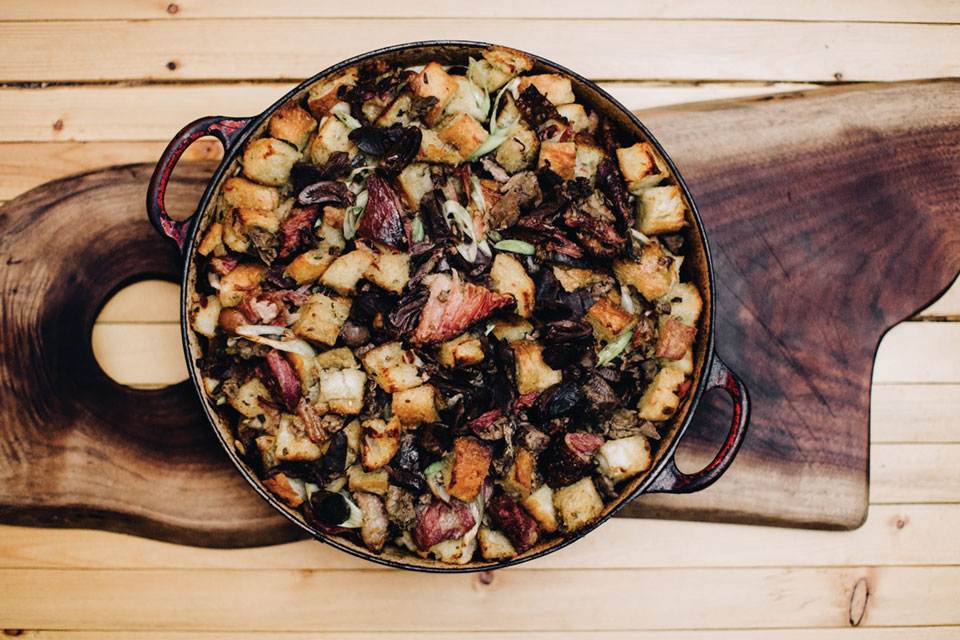 Erik Sather's Ham Hock Stuffing, Photo by Matt Lien // Growler Magazine