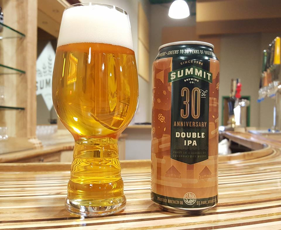Summit Brewing 30th Anniversary Double IPA // Photo via Summit's Facebook