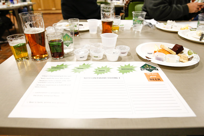 Rebecca Newman leads Summit's staff through a sensory analysis of off flavors // Photo by Aaron Davidson
