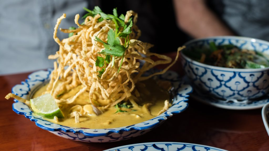 Khao soy noodles at Supatra's Thai Cuisine // Photo by Kevin Kramer