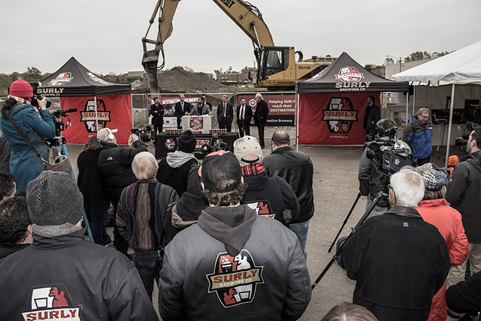Surly Brewing Destination Brewery Groundbreaking Ceremony, October 29, 2013 // Photo by Joseph Alton