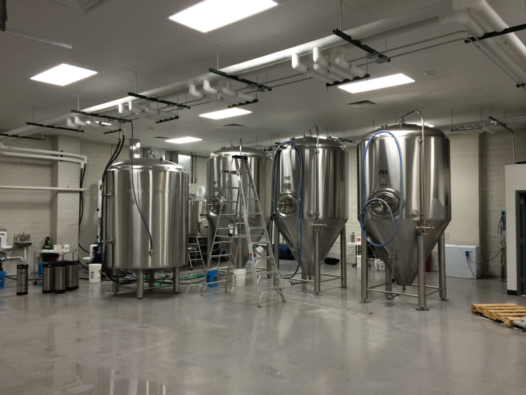 Brewhouse at Take 16 Brewing // Photo courtesy of Take 16 Brewing