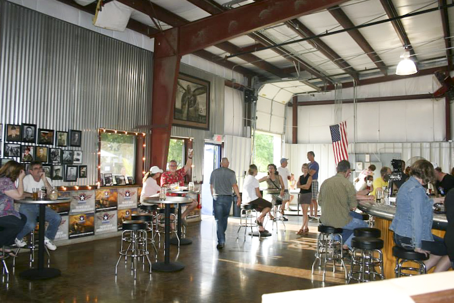 American Sky's taproom, The Hangar // Photo courtesy of American Sky Brewing's Facebook