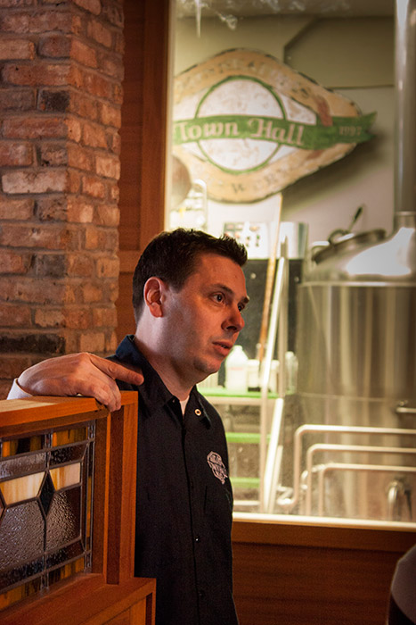 Town Hall Brewery Owner Pete Rifakes // Photo by Brian Kaufenberg